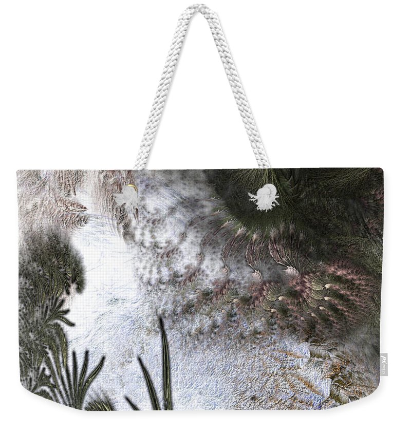 Abstract Weekender Tote Bag featuring the digital art Environmental Transitions by Casey Kotas