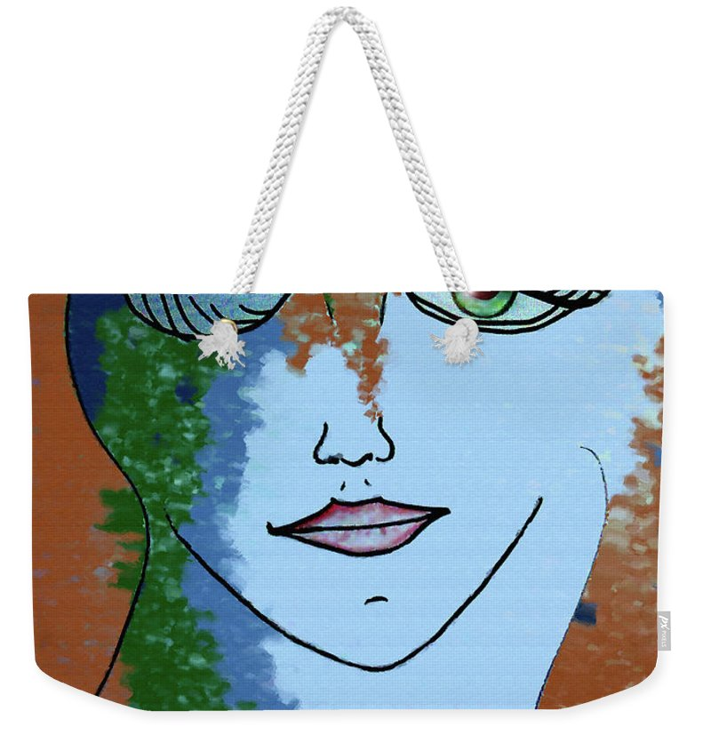 Woman Weekender Tote Bag featuring the digital art Envy by Donna Blackhall