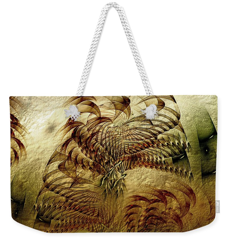 Abstract Weekender Tote Bag featuring the digital art Epoch by Casey Kotas