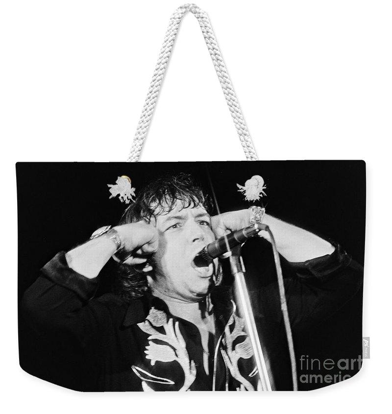 Dutch Weekender Tote Bag featuring the photograph Eric Burdon In Concert-1 by Casper Cammeraat