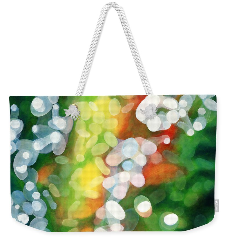 Queen Weekender Tote Bag featuring the painting Eriu Queen Of The Emerald Isle by Do'an Prajna - Antony Galbraith