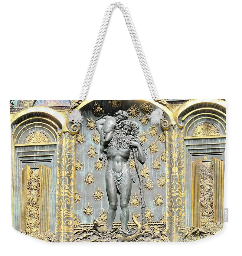 Ernst Weekender Tote Bag featuring the photograph Ernst Fuchs Mural by Ian MacDonald