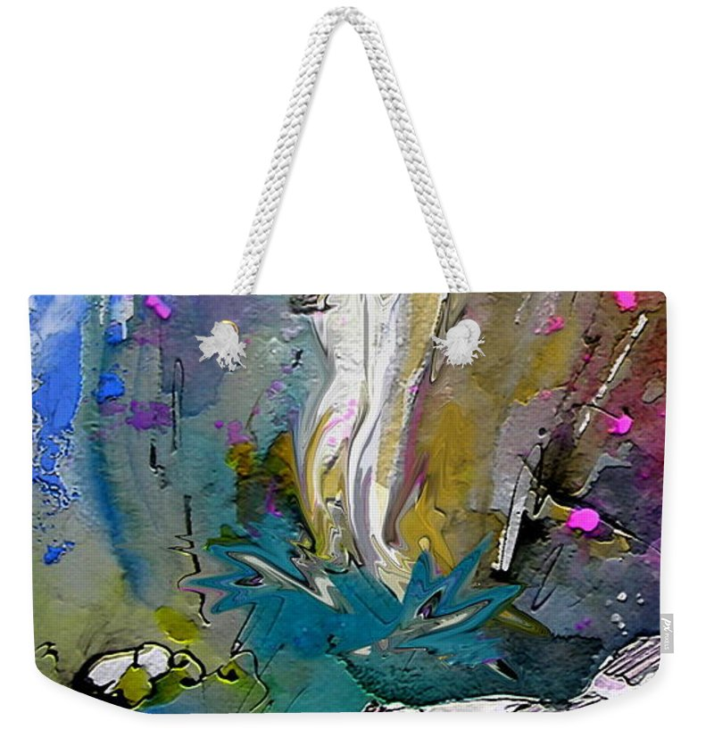 Miki Weekender Tote Bag featuring the painting Eroscape 1104 by Miki De Goodaboom
