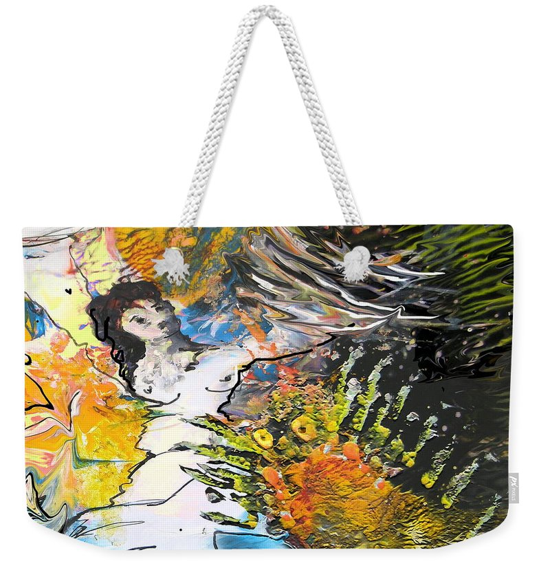 Miki Weekender Tote Bag featuring the painting Erotype 07 2 by Miki De Goodaboom