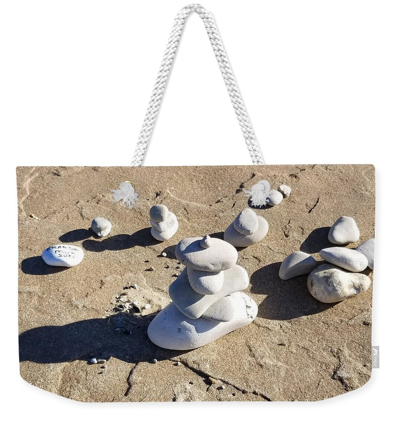 Weekender Tote Bag featuring the photograph Escanaba's Stamp by Wendy Legeret