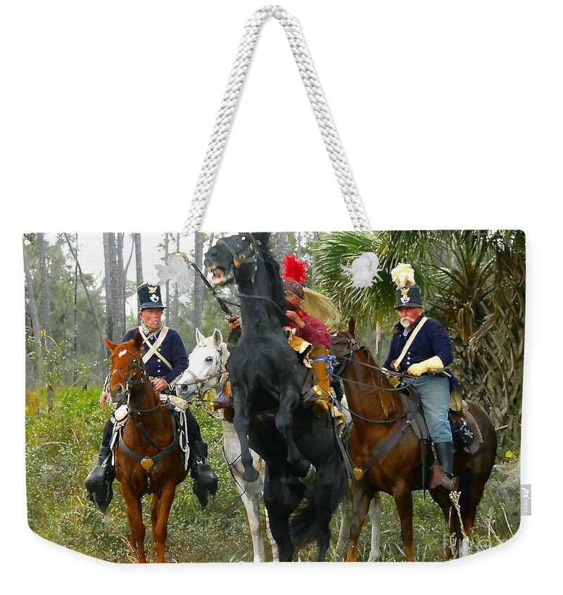 Seminole Indians Weekender Tote Bag featuring the photograph Escape Of Billy Bowlegs by David Lee Thompson