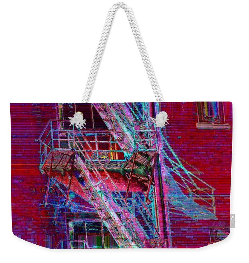 Fire Escape Weekender Tote Bag featuring the photograph Escape Route by Tim Allen