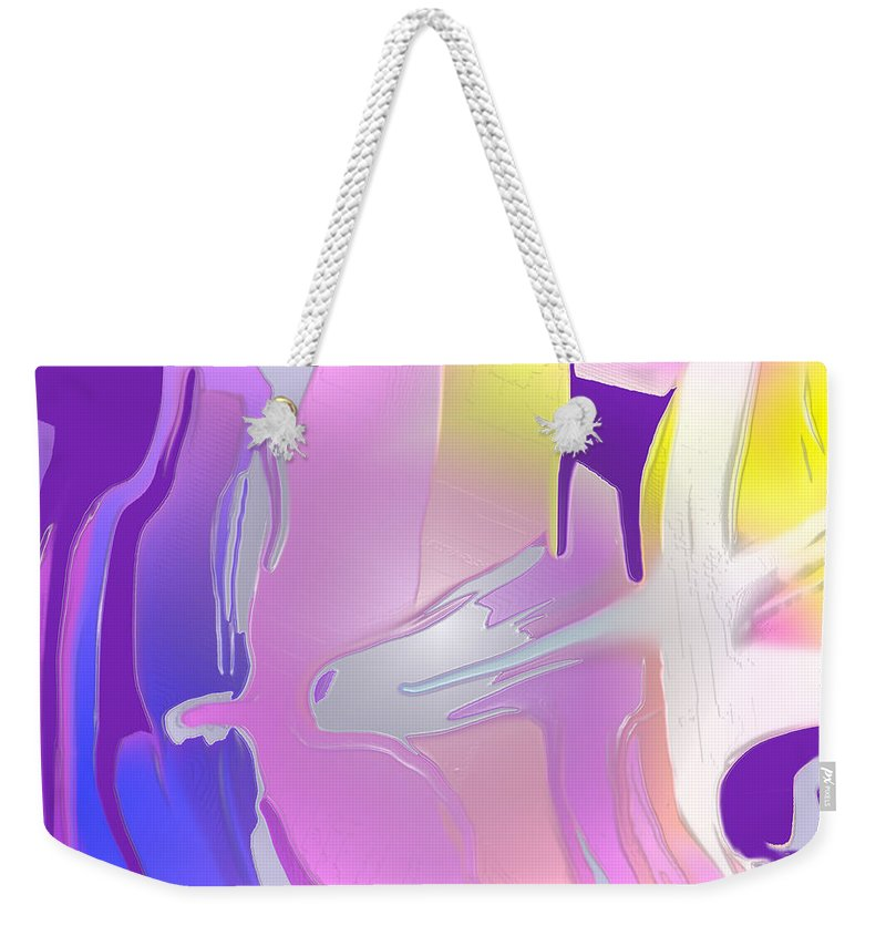 Abstract Weekender Tote Bag featuring the digital art Escaping Rigidity by Ian MacDonald