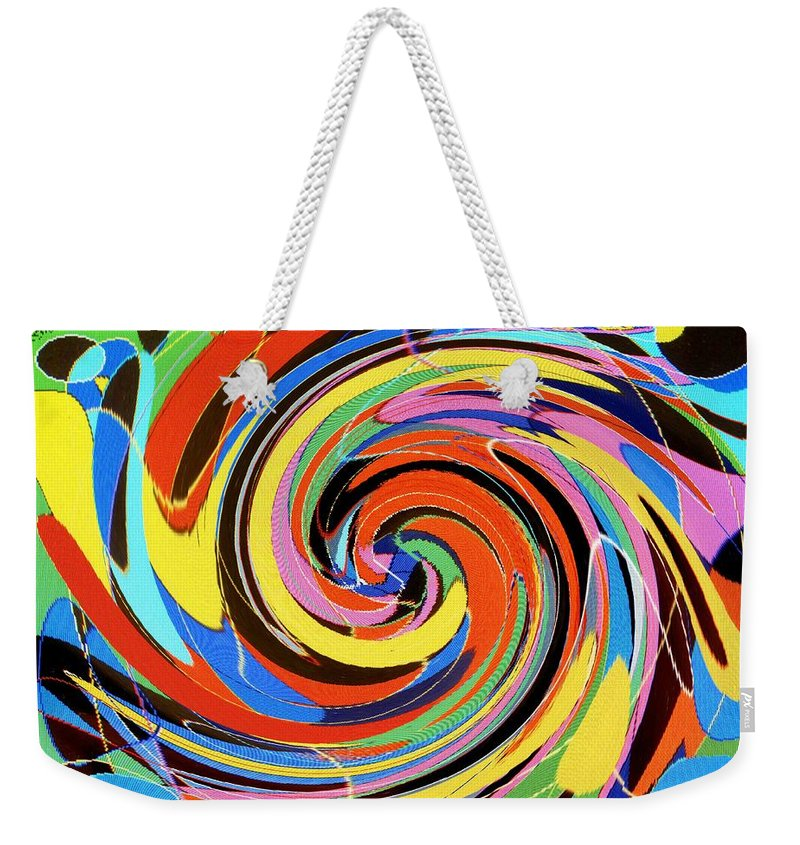Weekender Tote Bag featuring the digital art Escaping the Vortex by Ian MacDonald