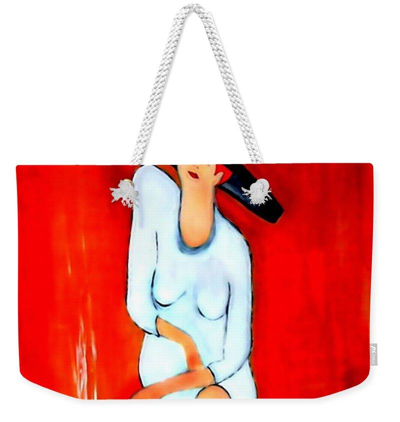 Italian Weekender Tote Bag featuring the digital art Espresso by Helmut Rottler