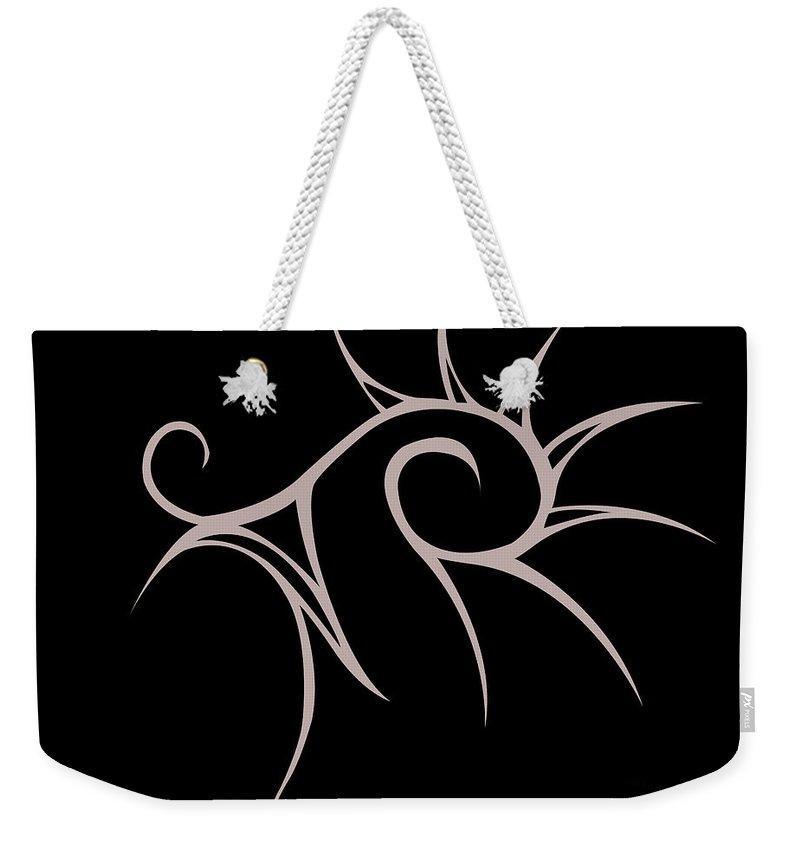 Weekender Tote Bag featuring the digital art Ess by Jamie Lynn