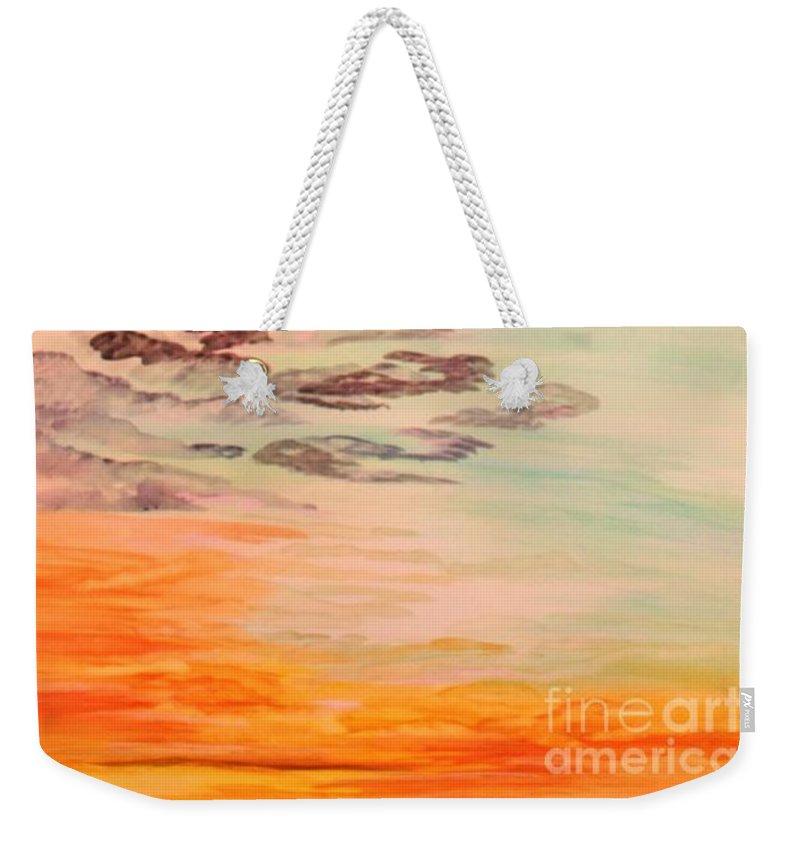 Original Weekender Tote Bag featuring the painting Essence Of Innocence by Barbara Donovan