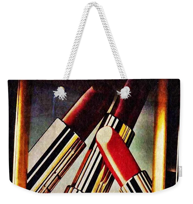 Estee Lauder Weekender Tote Bag featuring the photograph Estee Lauder Moscow by Sarah Loft