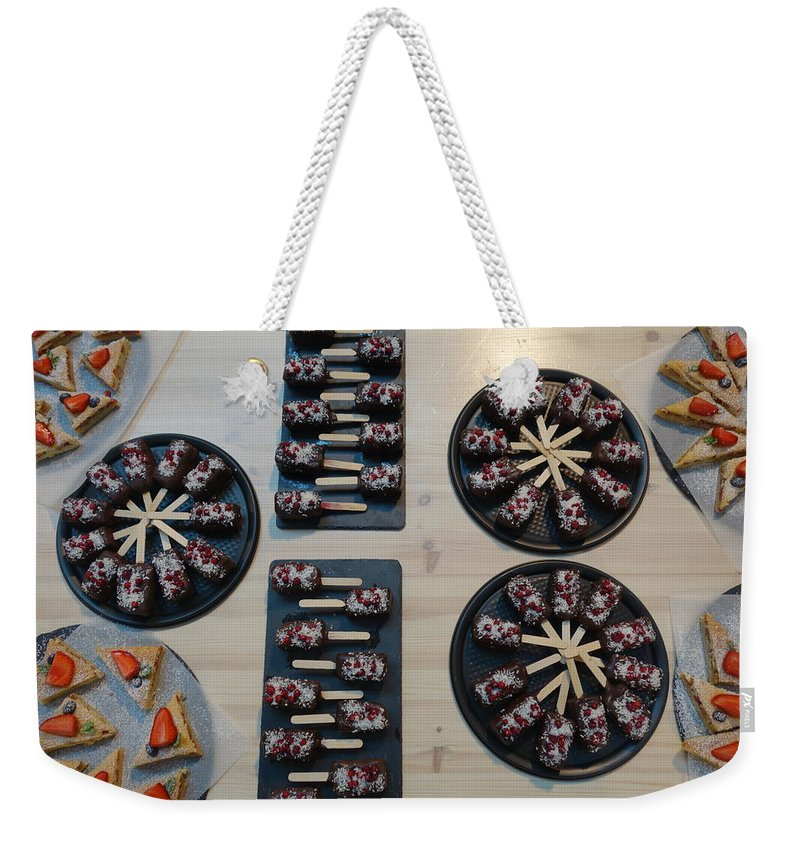 Eclairs Weekender Tote Bag featuring the photograph Estonian Treats by Rauno Joks