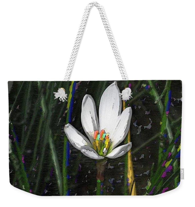 Estuary Weekender Tote Bag featuring the digital art Estuary Elegance by Tim Allen
