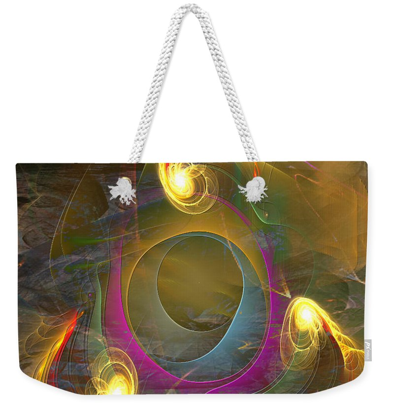 Eternal Triangle Weekender Tote Bag featuring the digital art Eternal Triangle by John Beck