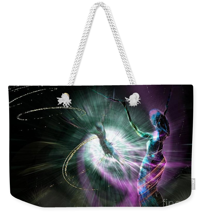 Nature Painting Weekender Tote Bag featuring the painting Eternel Feminin 02 by Miki De Goodaboom