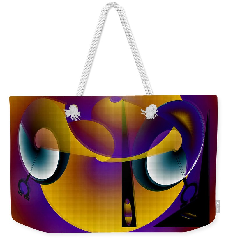 Eternity Weekender Tote Bag featuring the digital art Eternity Clock by Helmut Rottler