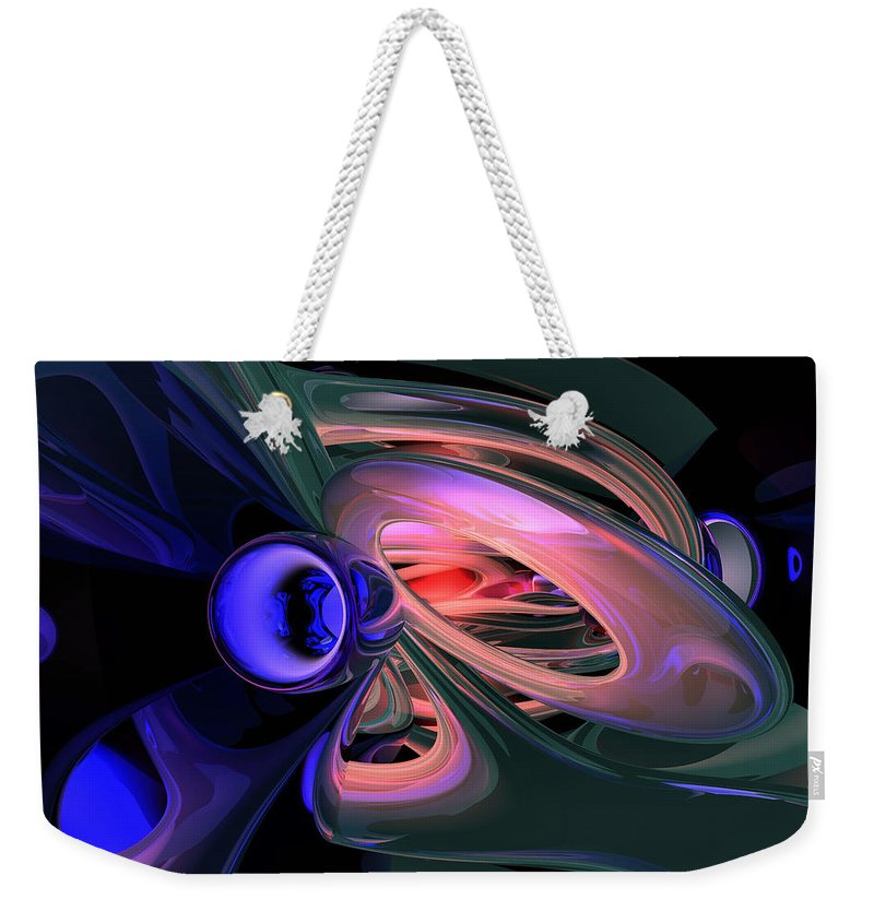 3d Weekender Tote Bag featuring the digital art Ethereal Abstract by Alexander Butler