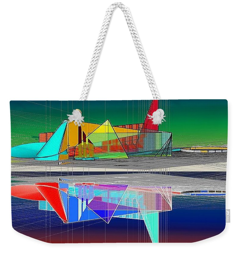 Cathedral Weekender Tote Bag featuring the digital art Ethereal Reflections by Don Quackenbush