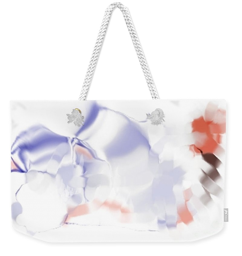 Ethereal Weekender Tote Bag featuring the digital art Ethereal by Ron Bissett