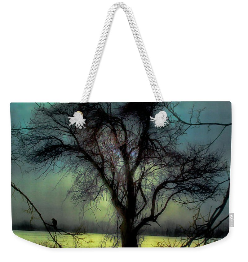Blue Weekender Tote Bag featuring the photograph Ethereal Trees by Gothicrow Images