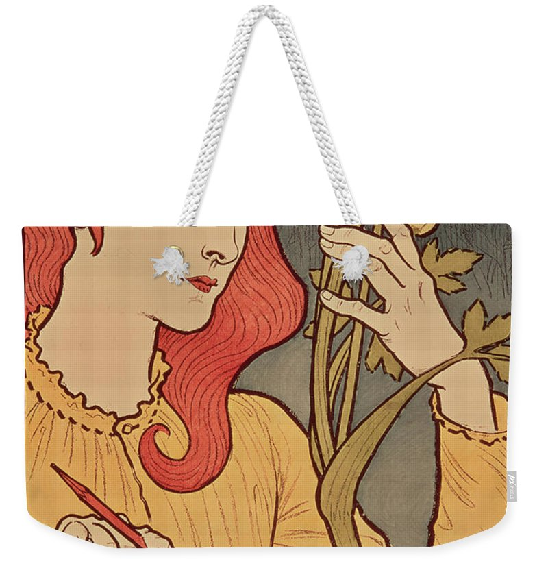 Girl Weekender Tote Bag featuring the painting Eugene Grasset by Salon des Cent
