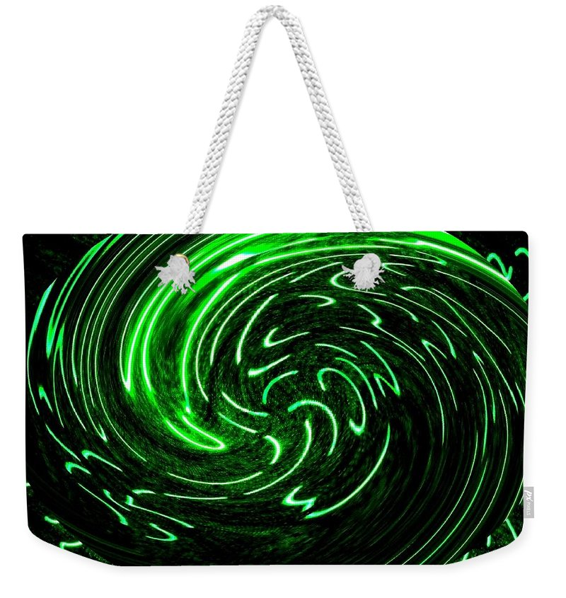 Abstract Weekender Tote Bag featuring the digital art Euphoria by Will Borden