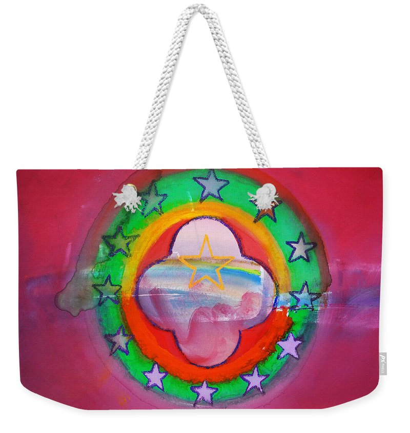 Symbol Weekender Tote Bag featuring the painting Euro Fishing Boat by Charles Stuart
