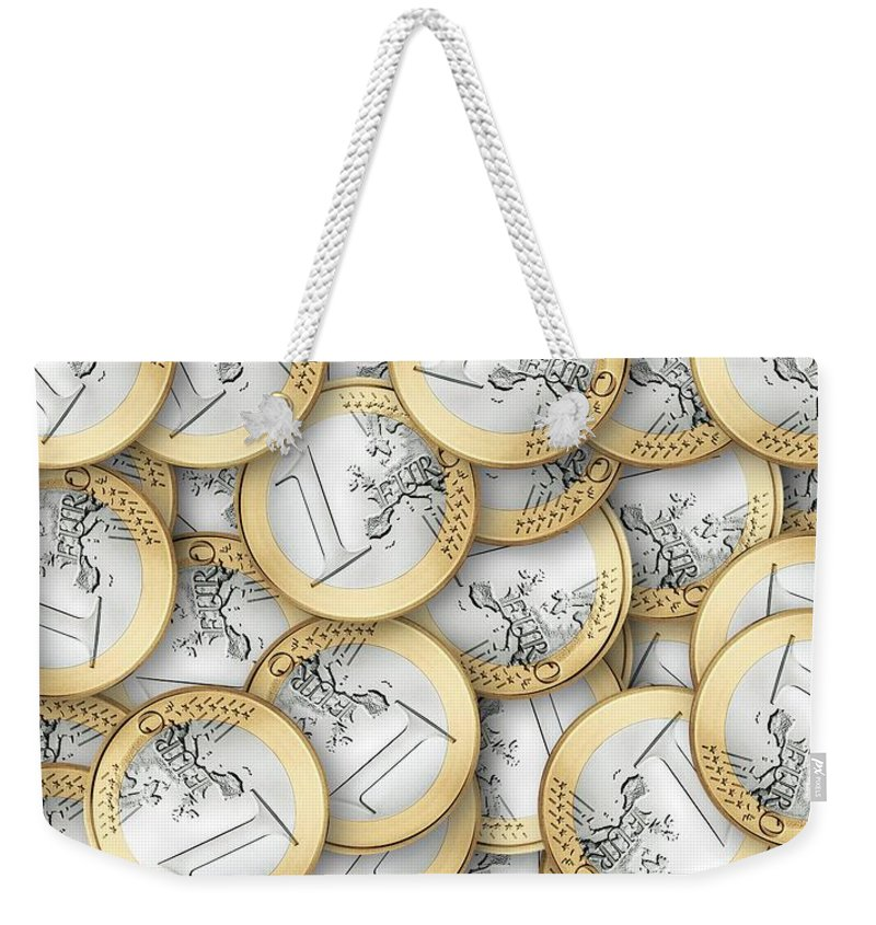 Euro Weekender Tote Bag featuring the photograph Euro by FL collection