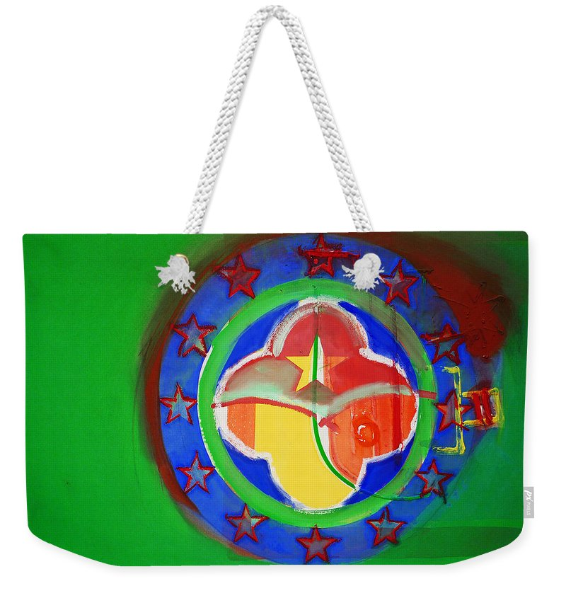 Symbol Weekender Tote Bag featuring the painting Euromarine by Charles Stuart