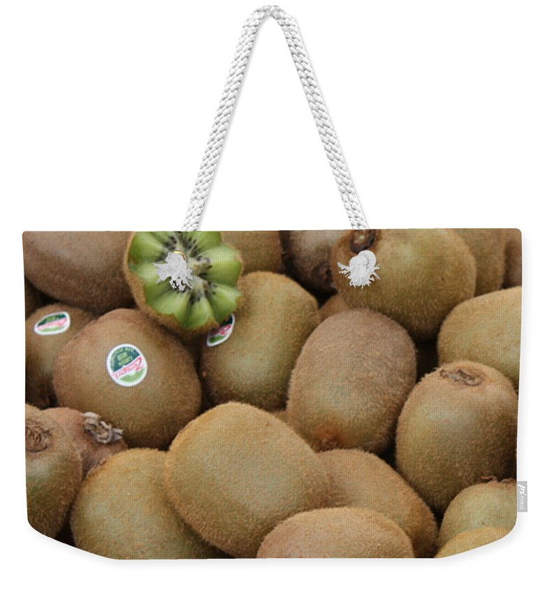 Kiwi Weekender Tote Bag featuring the photograph European Markets - Kiwis by Carol Groenen