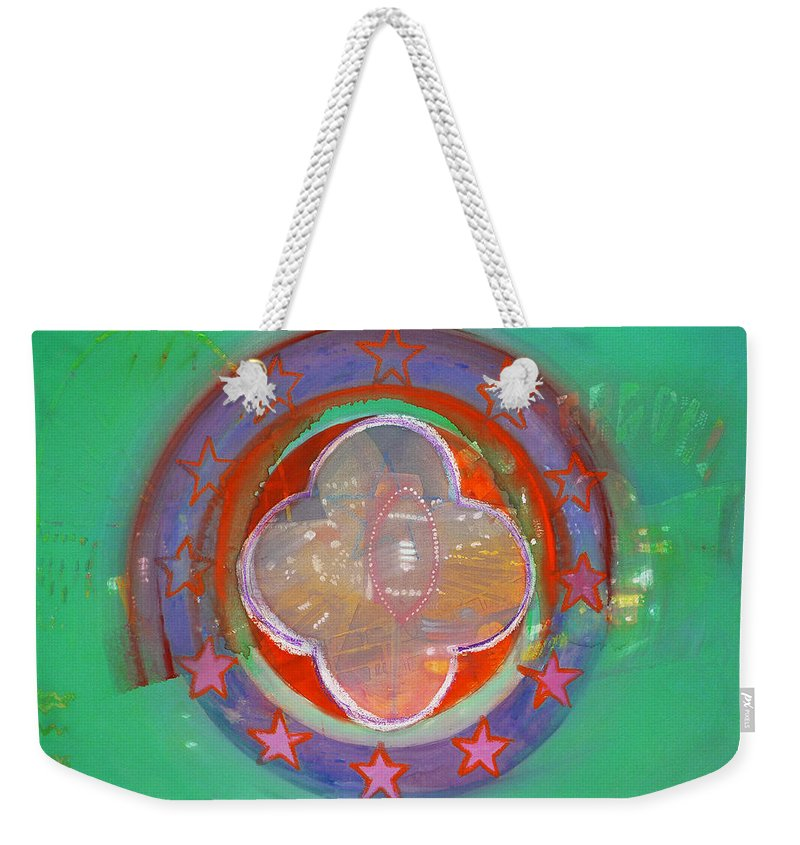 Symbol Weekender Tote Bag featuring the painting European Merry-go-round by Charles Stuart