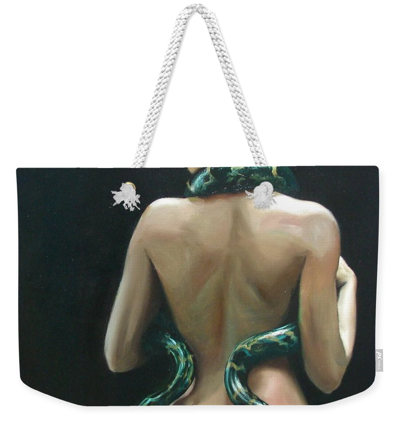 Ignatenko Weekender Tote Bag featuring the painting Eva2 by Sergey Ignatenko