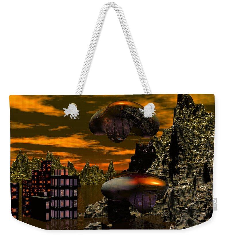Digital Painting Weekender Tote Bag featuring the digital art Evacuation by David Lane