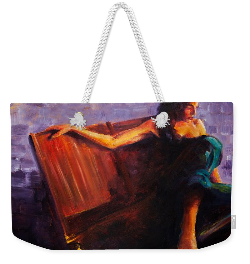 Figure Weekender Tote Bag featuring the painting Even Though by Jason Reinhardt
