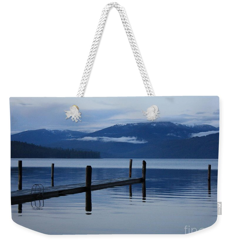 Priest Lake Weekender Tote Bag featuring the photograph Tranquil Blue Priest Lake by Carol Groenen