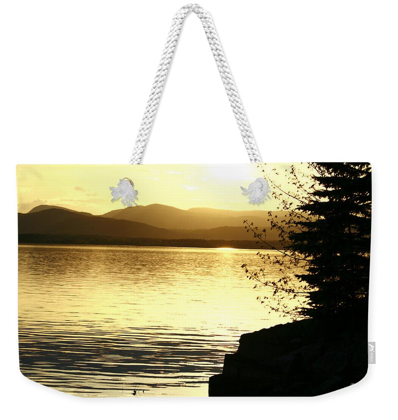 Sunset Weekender Tote Bag featuring the photograph Evening Charlotte Sunset by Deborah Benoit