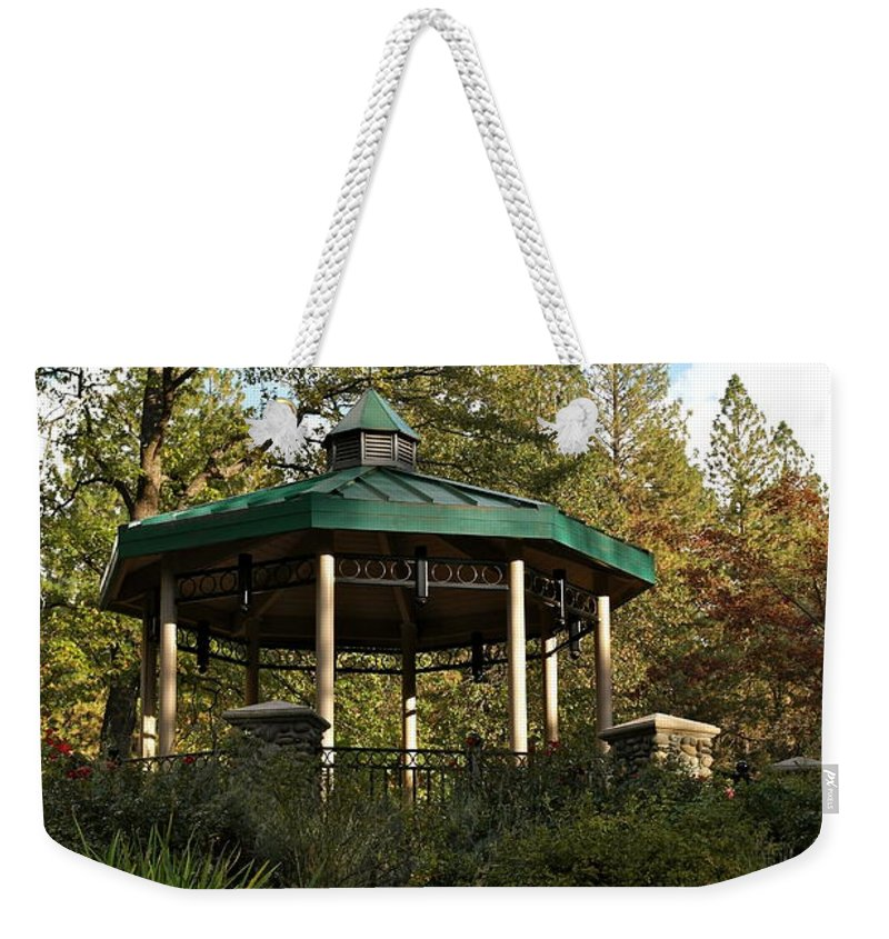 Gazebo Weekender Tote Bag featuring the photograph Evening Gazebo In Paradise by Michele Myers
