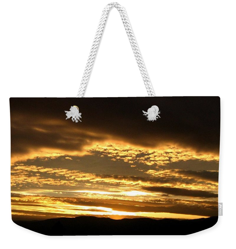Sunset Weekender Tote Bag featuring the photograph Evening Grandeur by Will Borden