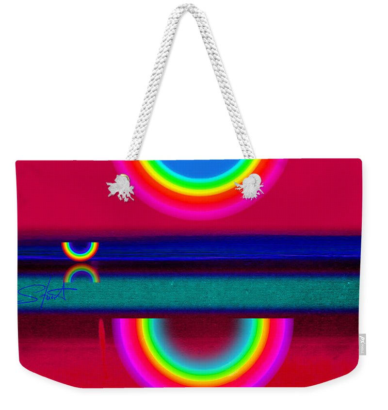 Reflections Weekender Tote Bag featuring the painting Evening Heat by Charles Stuart