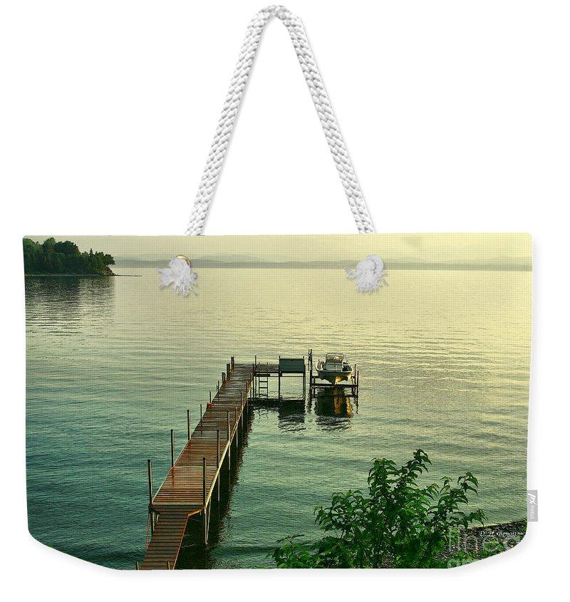 Lake Weekender Tote Bag featuring the photograph Evening In Charlotte by Deborah Benoit