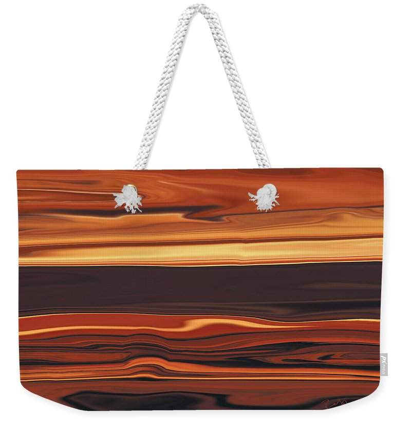 Abstract Weekender Tote Bag featuring the digital art Evening In Ottawa Valley 1 by Rabi Khan