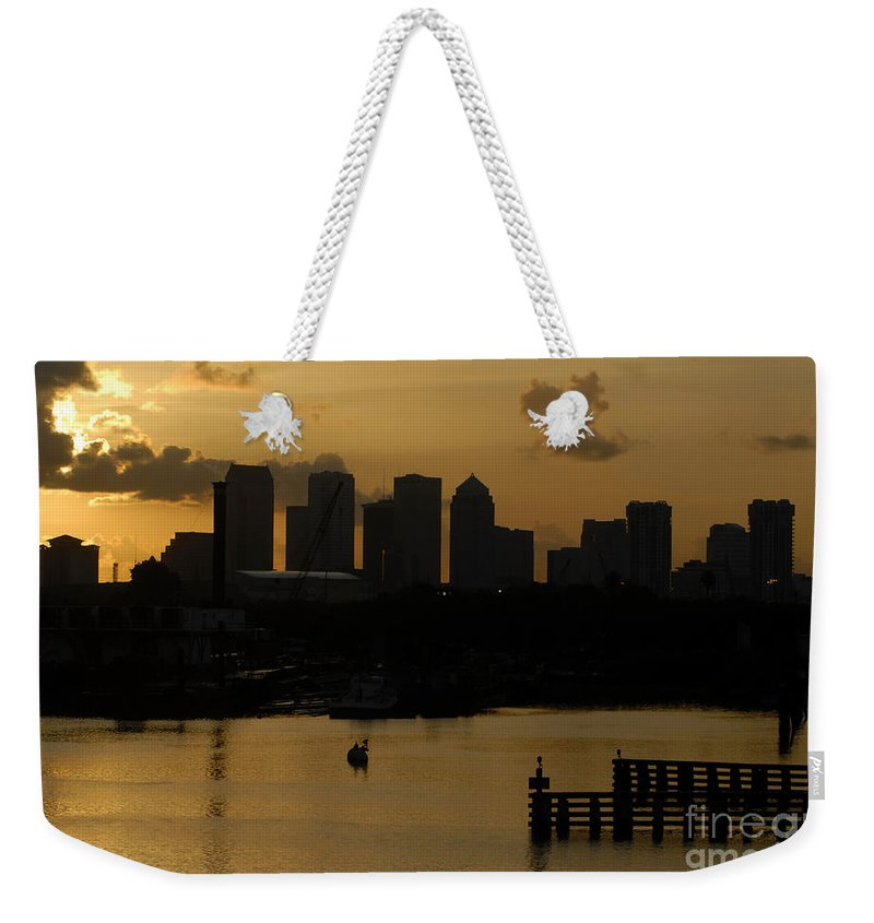 Tampa Bay Florida Weekender Tote Bag featuring the photograph Evening In Tampa by David Lee Thompson