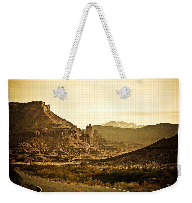 Americana Weekender Tote Bag featuring the photograph Evening In The Canyon by Marilyn Hunt