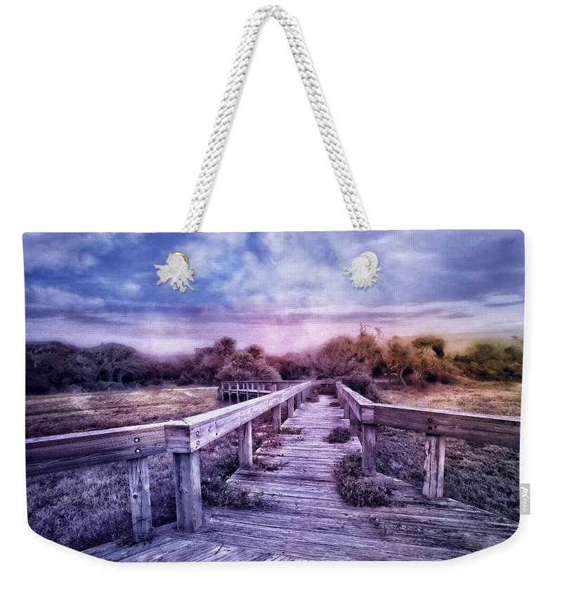 Clouds Weekender Tote Bag featuring the photograph Evening Invitation by Debra and Dave Vanderlaan