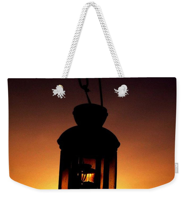 Lantern Weekender Tote Bag featuring the photograph Evening Lantern by Tim Allen