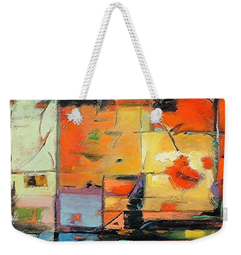 Abstract Painting Weekender Tote Bag featuring the painting Evening Light by Gary Coleman