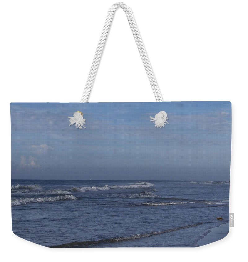 Ocean Weekender Tote Bag featuring the photograph Evening On The Beach by Teresa Mucha
