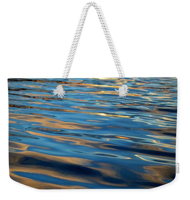 Water Weekender Tote Bag featuring the photograph Evening Silk by Dianne Cowen